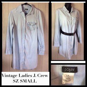 Vintage Ladies J. Crew Denim Tunic Shirt SZ SMALL